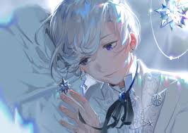 Plus, his light blue hair was simply a great choice, as it really enhances his pale and rather ghostly attributes, while contrasting well with the intensity of his eyes. Anime Boys Grey Hair Wallpapers Wallpaper Cave