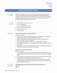 Resume With Volunteer Experience Template Resume Examples With Volunteer Experience Therpgmovie 4