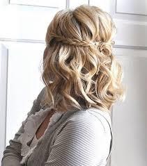 Image Coiffure Mariage Tresse Et Boucle Coiffure Cheveux Mi