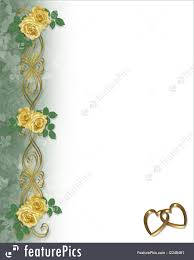Templates Yellow Roses Gold Hearts Border Stock Illustration Background Border Design Frame Gold Hearts Illustrated Invitation Ornamental Satin Valentine Wedding
