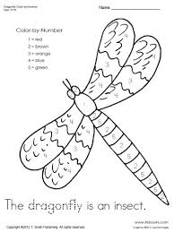 dragonfly3176large dragonfly color by number worksheet on complete subject worksheets