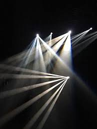 beams lighting. beams shining through waterbased haze in a photo studio setting lighting l
