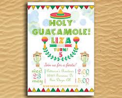 Print Birthday Invitation Holy Guacamole Printable Birthday Invitation