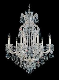 schonbek 5609 26 maria theresa 10 light crystal chandelier in french gold with clear heritage crystal