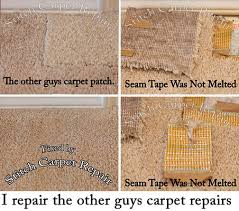 all photos are of work performed by stitch carpet repair copyright