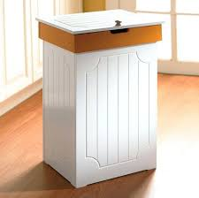 Trash Cans And Wastebaskets Inspiration 32 Beautiful Trendy Waste Baskets For Kitchen Cabinets Wooden Trash