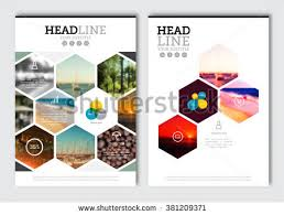 leaflet cover presentation abstract business brochure design template vector flyer layout blur background with elements for magazine