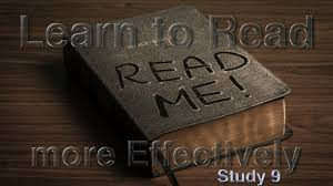 Learn To Read The Bible Effectively With The