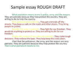draft essay ppt sample essay rough draft powerpoint presentation id 2572262
