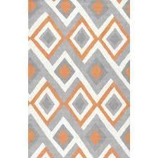 orange and grey area rugs anya orange 5 ft x 8 ft area rug orange and orange and grey area rugs