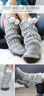 Free Crochet Slipper Patterns Classy Sierra Easy Crochet Slippers Free Mukluk Pattern