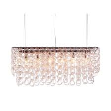 zuo jet stream 6 light clear ceiling lamp