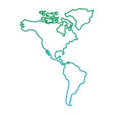 continent of america map. Modren Continent North And South America Map Continent Vector Illustration Blue Green  Line Degrade Color Stock Vector For Continent Of America Map