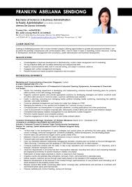 Business Administration Resume Samples Sample Job Resumes Business Administration Resume Samples 5