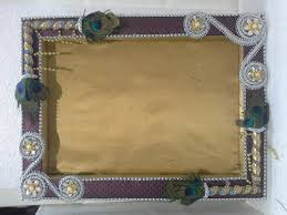Saree Tray Decoration Brown Leatherite Decorated Tray at Rs 100 pieces Rani Bagh 22