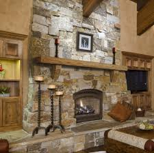 cultured stone room scene rustic fireplace mantelsstone