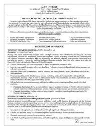 It Recruiter Resume Sample Resume Letters Job Application