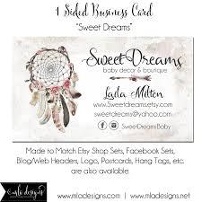 Dream Catcher Card Designs Dreamcatcher Business Cards Sweet Dreams Dreamcatcher