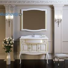 Мебель для ванной <b>Opadiris Лаура 100</b> белая с бежевой патиной ...