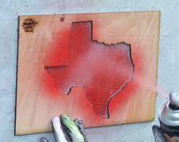 texas silhouette etsy