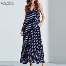S <b>6XL Plus Size Summer</b> Dress 2019 ZANZEA Women Polka Dot ...