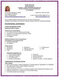 Medical Interpreter Resume Interpreter Resume Objective Shalomhouseus 17