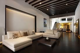 Contemporary Living Room Dark Floors