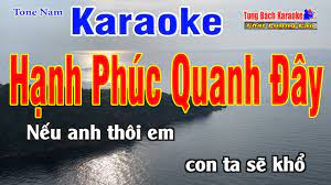 Hạnh Phúc Quanh Đây Karaoke (Tone Nam) - Nhạc Sống Tùng Bách [ Beat Chuẩn  Karaoke ] - Dễ ca nhất cho nam và nữ - #1 Xem lời bài hát