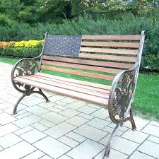 wrought iron and wood bench garden benches cast iron garden