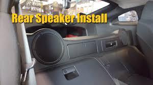 nissan 350z rear speaker install