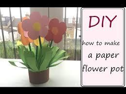 Paper Flower Pots Diy Paper Flower Pot Easy Craft Idea For Children