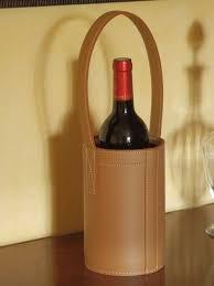 bottle holder camel leather