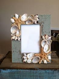 Coastal Home Decor Driftwood And Sea Shell Picture Frame  Loving Seashell Home Decor