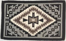 Navajo designs patterns Southwestern Contemporary Two Grey Hills Courtesy Toadlena Trading Post Canyon Road Arts Quick Guide To Navajo Rugs Canyon Road Arts