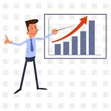 Chart Presentation Images Presentation Businessman Stands Near Growth Chart Stock Vector Image