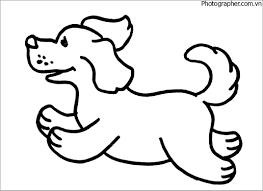 Top những bức tranh tô màu con chó đẹp nhất cho bé