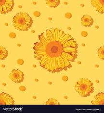 Sunflower Pattern Beauteous Seamless Sunflower Pattern Royalty Free Vector Image