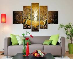 sangu hand painted 5 piece love tree oil paintings canvas wall art for home decoration on interior design canvas wall art with sangu hand painted 5 piece love tree oil paintings canvas wall art