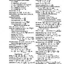 Physics 2 Formula Chart Formula Sheet Engineering Physics Ii Electricity And