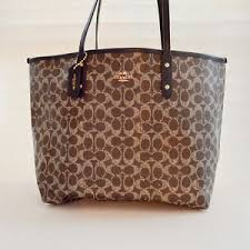 Image is loading Coach-Women-039-s-Signature-Logo-Canvas-Large-