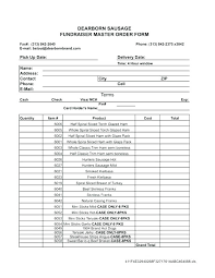 Fundraising Order Form Template Simple Writing Templates Spreadsheet
