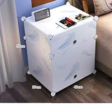 Plastic Kitchen Cabinet Enchanting Amazon FJIWDTGYHFGT White Simple Bedside TableSimple Modern