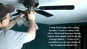fixing ceiling fan on which lights had been blinking because of defective wattage limiter you