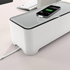E-BOX - Power Cable Box for Desk & TV & Computer | Cable Management | Hide  All Electric Wires & Power Strips | High Quality Scratch Resistant  Organizer to ...