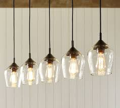 donovan glass 5 light pendant pottery barn in lights plan 3