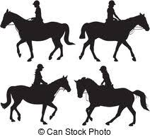 horse riding clipart black and white. Perfect Riding Horseback Riding Stock Illustrationby Lenm91460 Girl On Horseback   Vector Icon Horses In Action Black  Intended Horse Clipart Black And White L