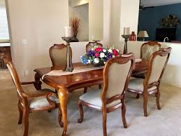 thomasville british gentry dining room table set with 6 chairs ebay dream sets pertaining to 10