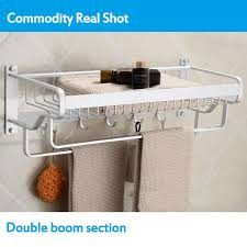 wall mounted towel rack rail holder