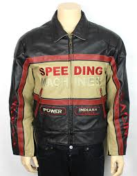 details about vintage indianapolis genuine leather motor sdway medium indy racing jacket m
