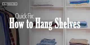 how to hang bookshelves how to hang bookshelves on drywall how to hang shelves on drywall